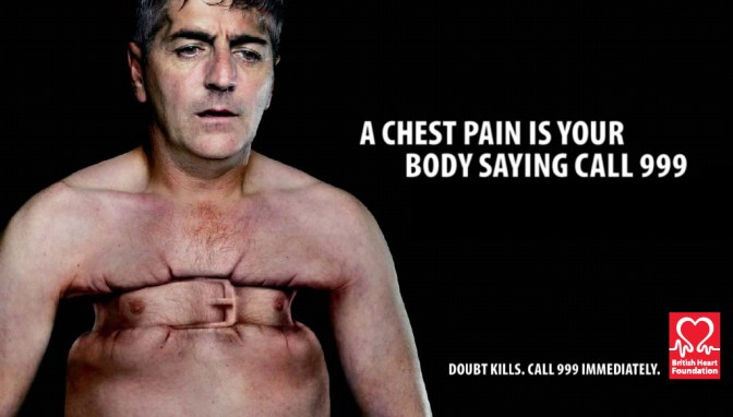 Uma dor torácica é o seu corpo dizendo 'Ligue para a Emergência'.